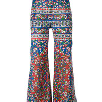 Mes Demoiselles Floral Print Flared Trousers - Farfetch