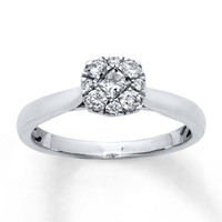 Diamond Engagement Ring 1/3 Carat tw 10K White Gold