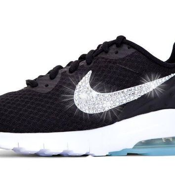 Sale - Nike Air Max Motion + Crystals - Black/White