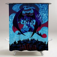 Disney Mondo Becky Cloonan Fantasia Print On Custom Shower Curtain Limited Edition