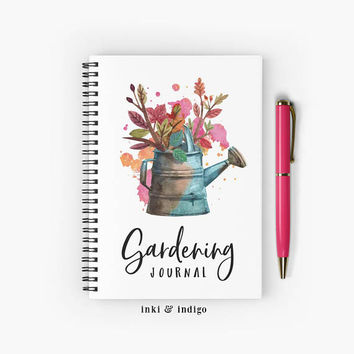 Gardening Journal - Spiral Notebook With Lined Paper, A5 Writing Journal, Diary, Lined Journal, Gift For Gardeners, Planting Journal