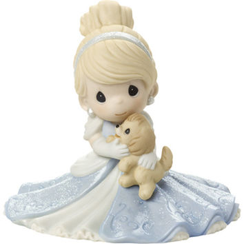 "Precious Moments Disney Cinderella Figurine ""A Friend Fit For A Princess"", Porcelain"