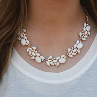 Ivory Glam Statement Necklace