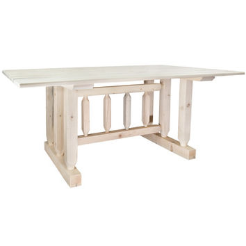 Montana Woodworks Homestead Trestle Based Dining Table Lacquered