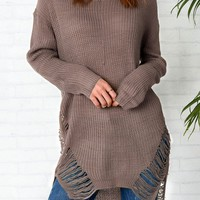 Cupshe Highest Peek High Low Sweater Dress