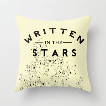 Retro Typography Decorative Pillow Cover Stars & Constellation Home Decor Throw Pillow Home Accessory Yellow Decor Accent Pillow