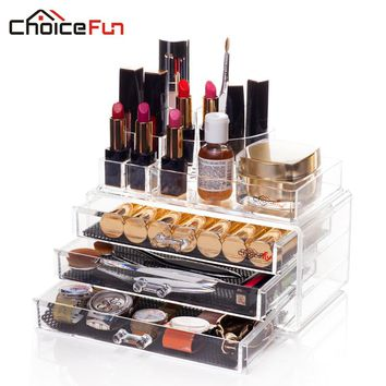 CHOICEFUN Bathroom Acrylic Makeup Organizer Storage Box Cosmetic organizador de maquiagem Drawers SF-1303