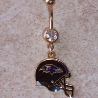 NFL Belly Rings Choose Your Team Body Jewellery