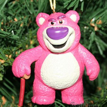 Licensed cool NEW Disney TOY STORY LOTSO STRAWBERRY BEAR LOTSO HUGGIN  Christmas Ornament PVC