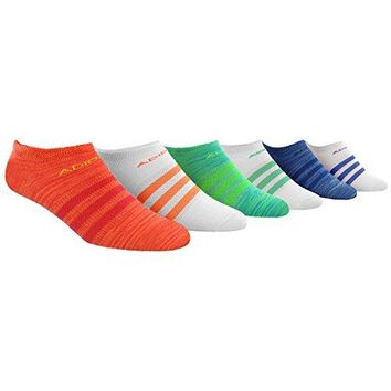 adidas Womens Superlite No Show Socks Pack of 6