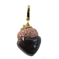 Juicy Couture Women's Chocolate Strawberry Charm Gold Tone Rare Unboxed