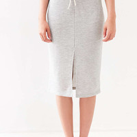 Silence + Noise Sporty Tie-Front Midi Skirt - Urban Outfitters