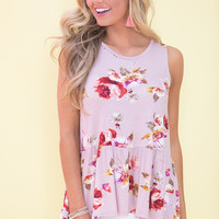 Dream Of The Best Days Floral Tank