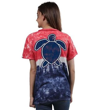Save - Washed Logo America - Tie Dye - SS - Adult T-Shirt