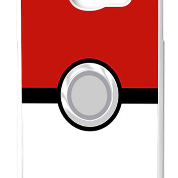 Pokemon Pokeball Samsung Galaxy S6 Cases - Hard Plastic, Rubber Case