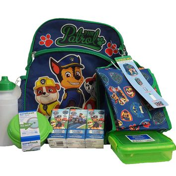 Paw Patrol Backpack Lunch Box Supply Pack