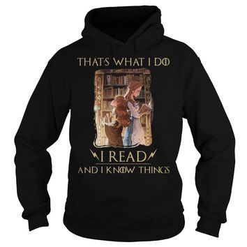 Hermione Granger And Belle Thats What I Do I Read And I Know Things Shirt Hoodie