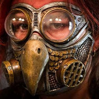Steampunk Froggle Owl gas mask and froggle combo set cosplay. ON SALE NOW!!!
