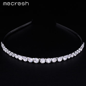 Mecresh Crystal Rhinestone Beads Wedding Hair Accessories Hairbands Hair Combs Bridal Wedding Hair Jewelry TS001