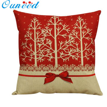 Vintage Christmas decorative Cushion Cover Throw Pillow Pillowslip Case for Sofa Bed square Cotton Linen 45cm capas de almofada