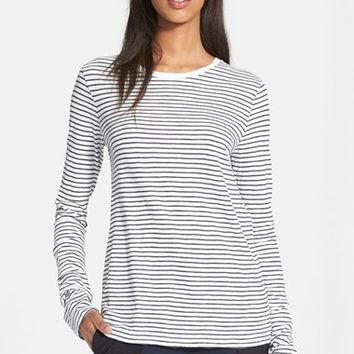Women's Vince Feeder Stripe Long Sleeve Tee,