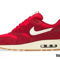 titolo nike air max 1 essential 537383-611Gym Red/ Sail-Black- Black 537383
