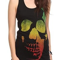 Rasta Skull Girls Tank Top - 301194