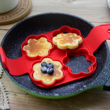 Flower Shaped Silicone Egg or Pancake Mold