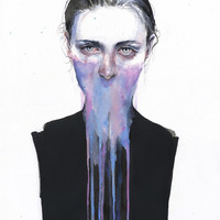 my opinion about you Art Print by Agnes-cecile