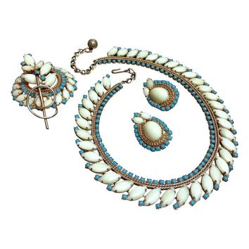 Pre-owned Vintage Hobe Parure - Necklace, Pin & Earrings