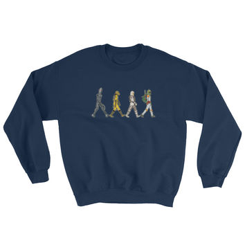 Bounty Road's Fab Four Beatles Star Wars Mash Up Parody Men's Sweatshirt
