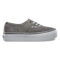 Washed Denim Authentic Platform | Shop Classic Shoes at Vans