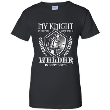 Men's My Knight In Shining Armour Is A Welder T-Shirt