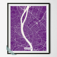 Budapest Map Print, Hungary Poster, Budapest Street Map, Hungary Print, Home Decor, Map Print, Street Map, Wall Art, Back To School