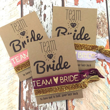 Team Bride Bachelorette Hair Tie Party Favors // To Have And To Hold Your Hair Back
