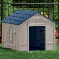 Suncast Large Deluxe Dog House with FREE Doors - DH350 | www.hayneedle.com