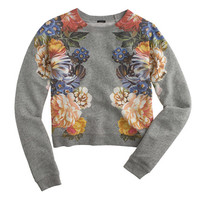 J.Crew Womens Dutch Floral Cropped Sweatshirt