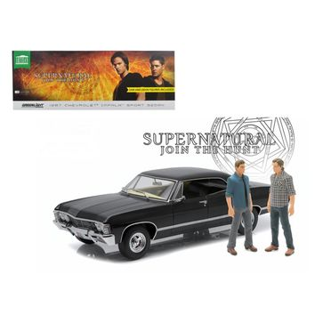 1967 Chevrolet Impala Sport Sedan with Sam and Dean Figures \Supernatural\ (TV Series 2005) 1-18 Diecast Model Car by Greenlight