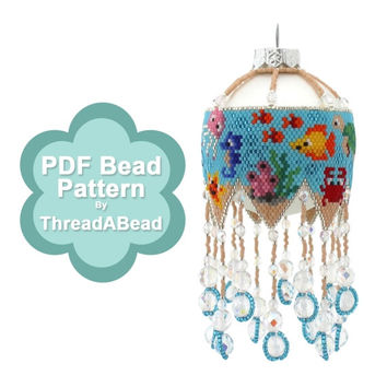 Bead Pattern: Under the Sea Large Beaded Ornament