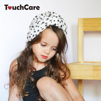Infant Bohemia Style Baby Hat Newborn Photography Accessories Bows Hats for Girls Dot Cotton Children's Hat Cute Baby Caps