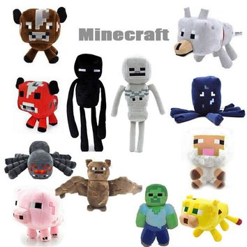 high quality Minecraft Plush Toys Ocelot Enderman Spider Green Zombie PIG Animal Plush Toys pink for Kids Plush Toys Dolls
