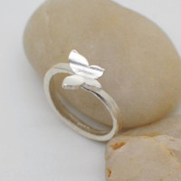 Sterling Silver Butterfly Ring, Handmade 925 Silver Ring, Handmade Sterling Silver Jewelry, Bridesmaid ring, Bridal, Wedding, Teenage, Gift