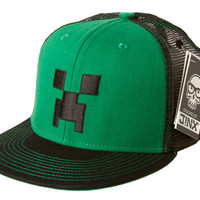 J!NX : Minecraft Creeper Face Snap Back Hat