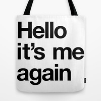 Hello Tote Bag by simon oxley idokungfoo.com