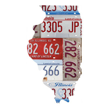 Illinois License Plate wall decal