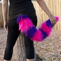 Faux Fur Tail: cheshire cat