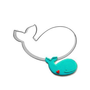 Whale Mold Kitchen Toys Cake Fondant Biscuit Press Icing Set Stamp Cookie Cutter Tools Stainless Steel Best Seller DZ161