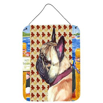 French Bulldog Frenchie Fall Leaves Wall or Door Hanging Prints LH9559DS1216