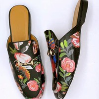 shosouvenir :GUCCI : Flat bottomed single shoe sandals