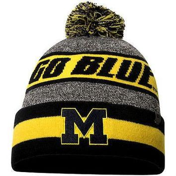 lowest price 1656d 8b438 Michigan Wolverines Top of the World Cumulus Cuffed Knit Hat With Pom
